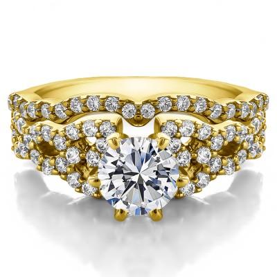 Infinity Engagement Ring Bridal Set (2 Rings) (2.05 Ct. Twt.)