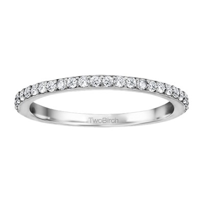 0.32 Carat Low Profile Straight Wedding Ring