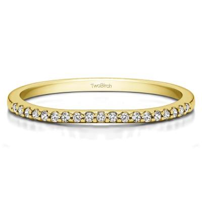 0.095 Carat Dainty Low Profile Matchng Wedding Ring