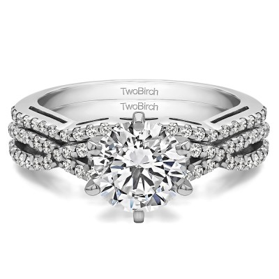 Infinity Engagement Ring Bridal Set (2 Rings) (1.34 Ct. Twt.)