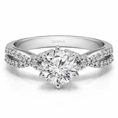 1.21 Ct. Lab Grown Diamond Round Engagement Ring with Infinity Shank