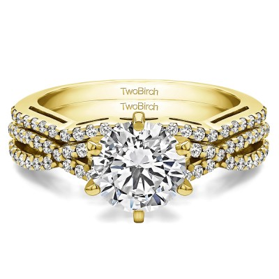 Infinity Engagement Ring Bridal Set (2 Rings) (1.34 Ct. Twt.)