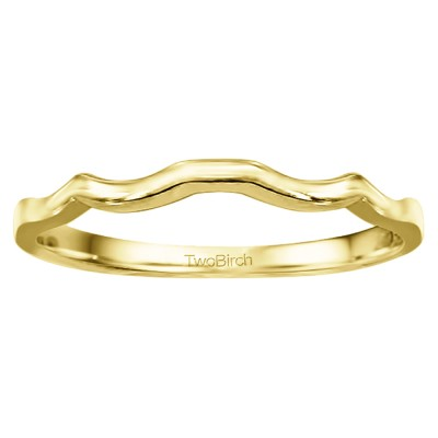 Low Profile Straight Prong Set Wedding Ring