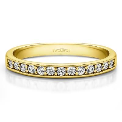 0.26 Carat Low Profile Straight Wedding Ring