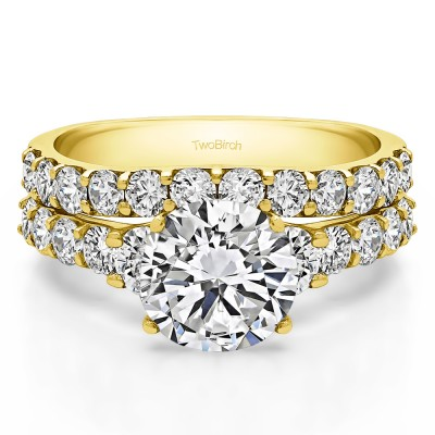 Round Graduated Engagement Ring Bridal Set (2 Rings) (2.22 Ct. Twt.)