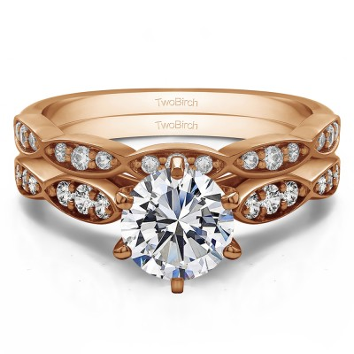 Delicate Stackable Engagement Ring Bridal Set (2 Rings) (1.32 Ct. Twt.)