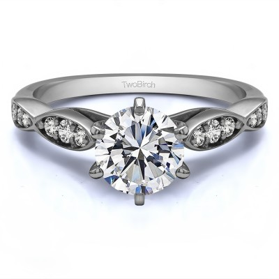 1.21 Ct. Round Stackable Engagement Ring