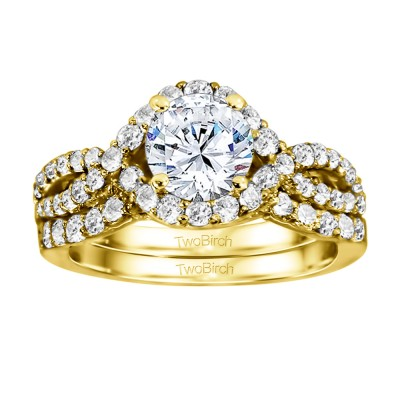 Round Infinity Halo Engagement Ring Bridal Set (2 Rings) (1.82 Ct. Twt.)