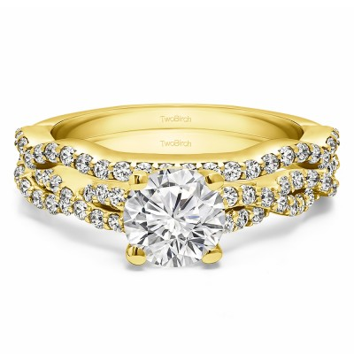 Round Infinity Engagement Ring Bridal Set (2 Rings) (1.75 Ct. Twt.)