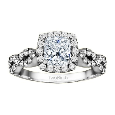 1.69 Ct. Cushion Cut Infinity Halo Engagement Ring