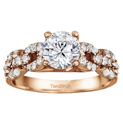 1.51 Ct. Round Infinity Engagement Ring in Rose Gold