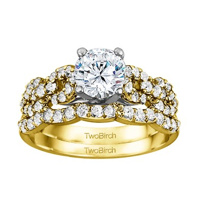 Round Infinity Engagement Ring Bridal Set (2 Rings) (1.77 Ct. Twt.)