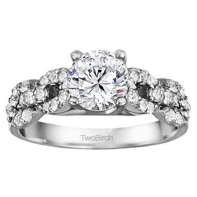 1.51 Ct. Round Infinity Engagement Ring
