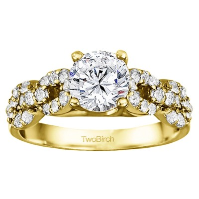 1.51 Ct. Round Infinity Engagement Ring in Yellow Gold