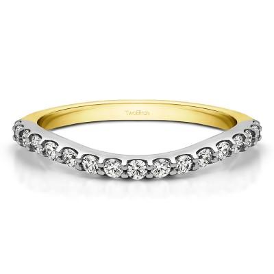 0.2975 Carat Contoured Matching Wedding Ring