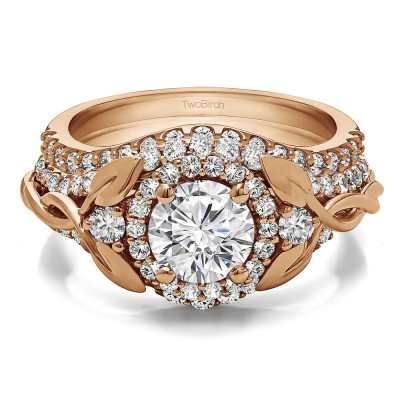 Round Infinity Braid Engagement Ring Bridal Set (2 Rings)(2.1 Ct. Twt.)