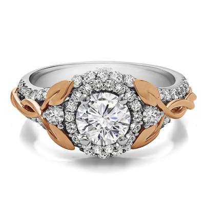 1.81 Ct. Round Halo Infinity Braid Engagement Ring