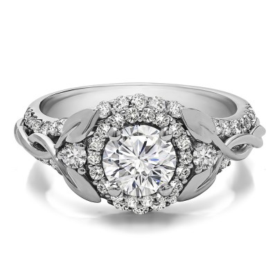 1.81 Ct. Round Halo Infinity Braid Engagement Ring