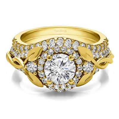 Round Infinity Braid Engagement Ring Bridal Set (2 Rings) (2.1 Ct. Twt.)