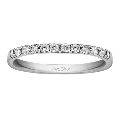 0.325 Carat Shared Prong Low Profile Matching Wedding Band