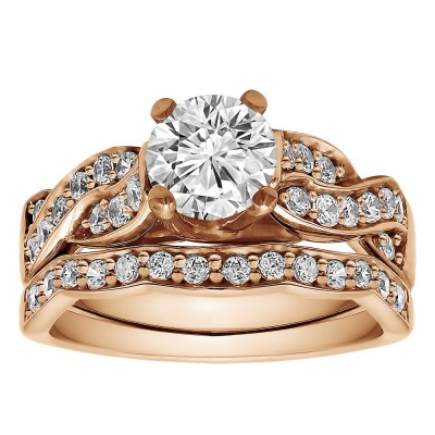 Round Infinity Engagement Ring Bridal Set (2 Rings) (1.56 Ct. Twt.)