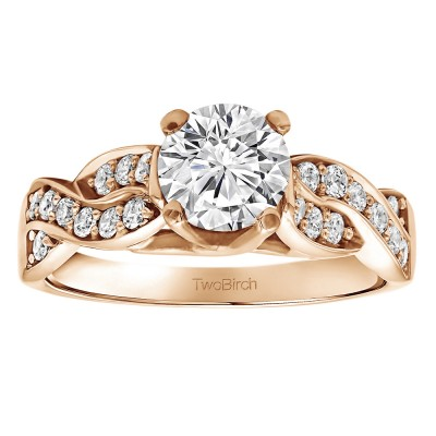 1.35 Ct. Round Infinity Engagement Ring in Rose Gold