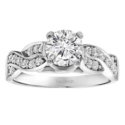 1.35 Ct. Round Infinity Engagement Ring