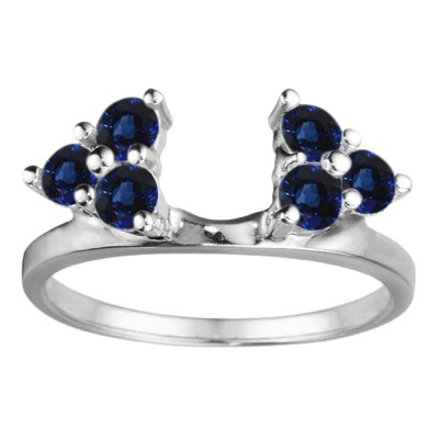 0.12 Ct. Sapphire Shared Prong Set Six Stone Ring Wrap