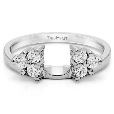 0.99 Ct. Shared Prong Set Six Stone Ring Wrap