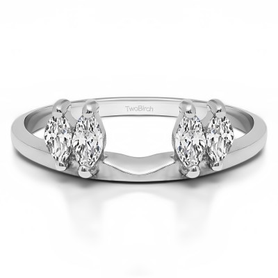 0.5 Ct. Four Stone Marquise Ring Wrap Enhancer