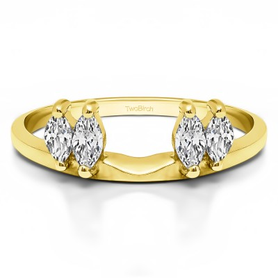 1 Ct. Four Stone Marquise Ring Wrap Enhancer in Yellow Gold