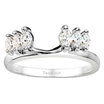 0.33 Ct. Six Stone Marquise Ring Wrap Enhancer