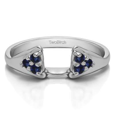 0.15 Ct. Sapphire Six Stone Prong Set Cluster Ring Wrap Enhancer