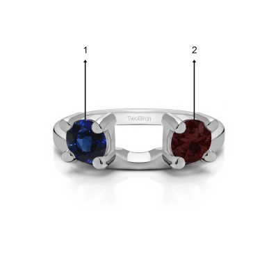 Genuine Birthstone Three Stone Round Prong Set Ring Wrap Enhancer(0.5 Carat)