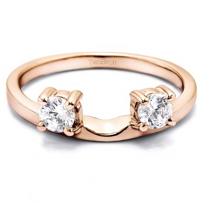 0.5 Ct. Two Stone Round Ring Wrap Enhancer in Rose Gold