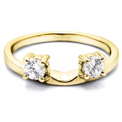 0.5 Ct. Two Stone Round Ring Wrap Enhancer in Yellow Gold