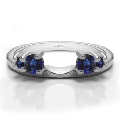0.4 Ct. Sapphire Graduated Four Stone Ring Wrap