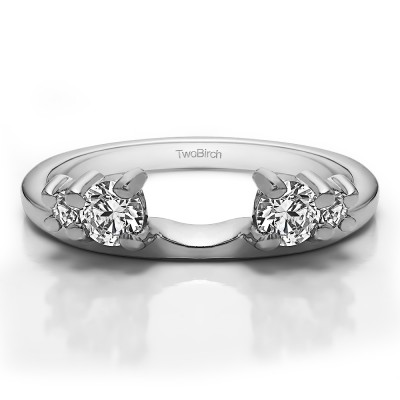 0.4 Ct. Graduated Four Stone Ring Wrap