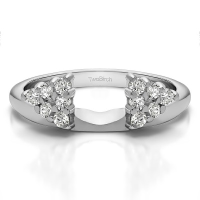 0.25 Ct. Twelve Stone Shared Prong Cluster Ring Wrap Enhancer