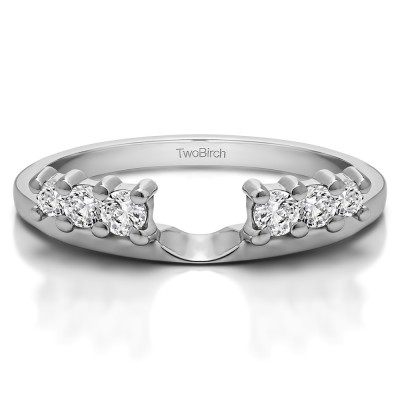0.25 Ct. Double Shared Prong Graduated Six Stone Ring Wrap