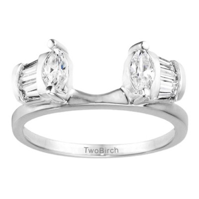0.49 Ct. Tapered Baguette and Marquise Ring Wrap Enhancer