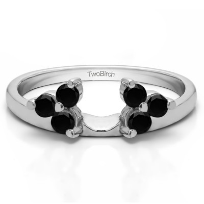 0.12 Ct. Black Three Stone Cluster Ring Wrap Enhancer