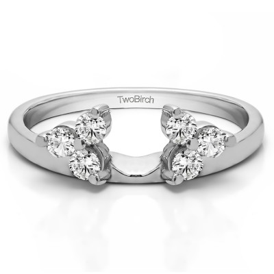 0.24 Ct. Three Stone Cluster Ring Wrap Enhancer