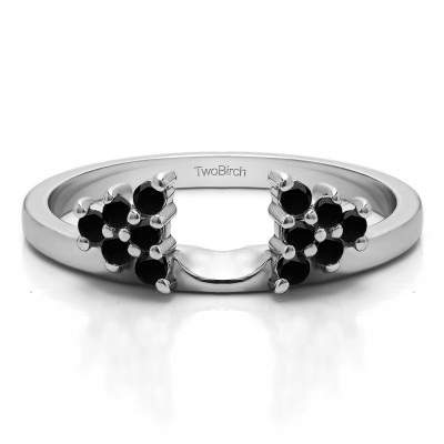 0.23 Ct. Black Triangular Cluster Ring Wrap Enhancer