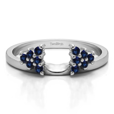 0.23 Ct. Sapphire Triangular Cluster Ring Wrap Enhancer