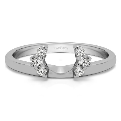 0.13 Ct. Round Half Round Halo Ring Wrap