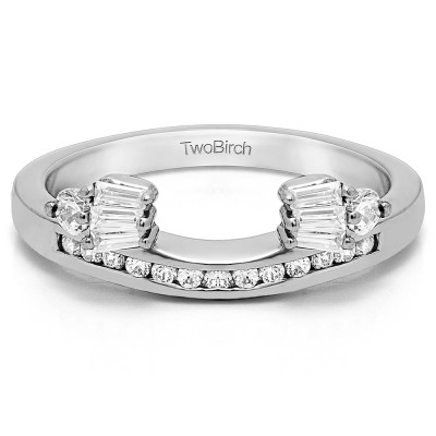 0.71 Ct. Bow Designed Contour Channel Anniversary ring wrap