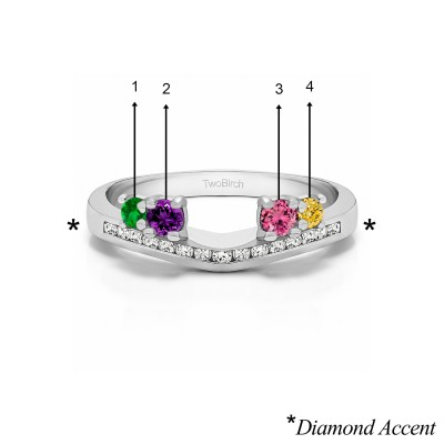 Genuine Birthstone Solitaire Anniversary Ring Wrap Enhancer(0.5 Carat)