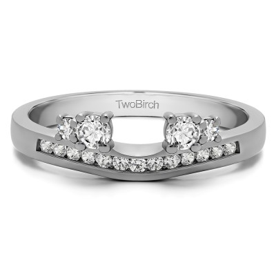 0.34 Ct. Four Stone Solitaire Anniversary Ring Wrap Enhancer