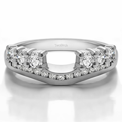 0.49 Ct. Six Stone Anniversary Ring Wrap with Channel Set Band